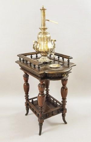 Bracia Buch (firma czynna 1809-1944, w 1882 fuzja z firmą Norblin), Samowar platerowy ze stolikiem