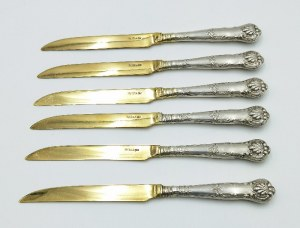 Karol Filip MALCZ (czynny od 1828 - 1864, firma do 1939), Sześć nożyków do owoców