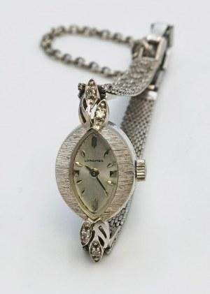 Firma LONGINES, Zegarek naręczny, damski, biżuteryjny