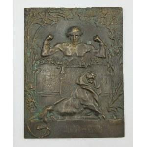 AUTOR NIEROZPOZNANY, Plakieta z figurą siedzącego lwa - symbolem Lwowa