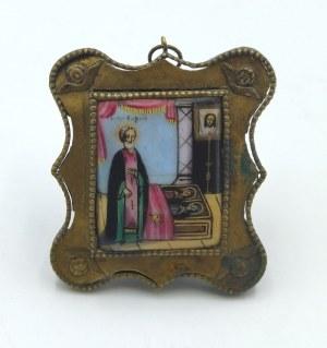 Ikona - Święty Sergiej - miniatura