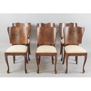Komplet 6 krzeseł w stylu biedermeierowskim