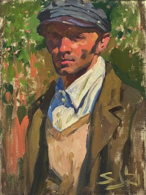 Sławomir J. Siciński, Autoportret na tle kwitnącej jabłoni