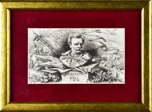 Juliusz KOSSAK (1824-1899), Wincenty Pol - winieta do Mohorta