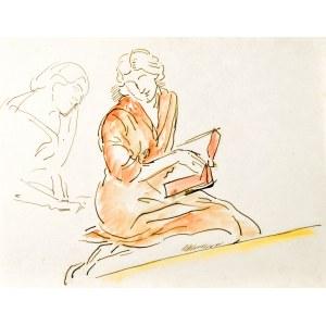 Leopold GOTTLIEB (1883-1934), Czytająca kobieta
