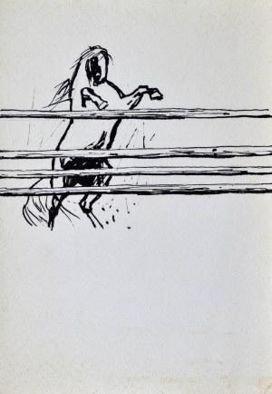 Ludwik MACIĄG (1920-2007), Koń przeskakujący przez przeszkodę
