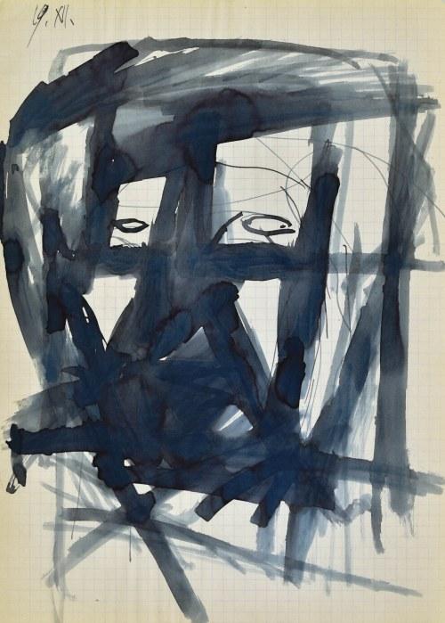 Jerzy PANEK (1918-2001), Głowa - autoportret I, 1963