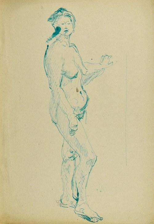 Kasper POCHWALSKI (1899-1971), Akt stojącej kobiety w kontrapoście, 1953