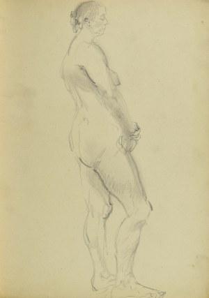 Kasper POCHWALSKI (1899-1971), Akt stojącej kobiety, 1953