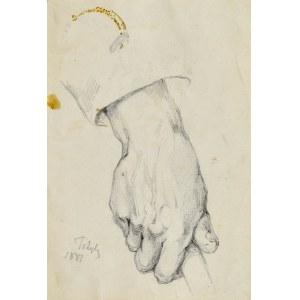 Tadeusz RYBKOWSKI (1848-1926), Studium dłoni, 1887