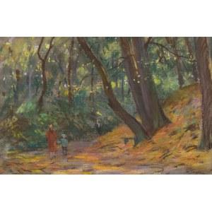 Władysław SERAFIN (1905-1988), Spacer w jesiennym lesie