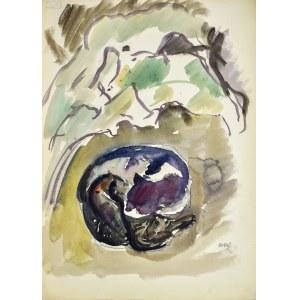 Wojciech WEISS (1875-1950), Śpiące koty, 1919