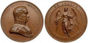Austria  Medal 1849 Joseph Count Radetzky (1766-1858); army officer; The Italian Campaign 1848-1849. Copper Medal...