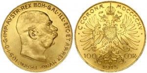 Austria 100 Corona 1915 Restrike. Franz Joseph I(1848-1916). Averse: Head right. Averse Designer: Stefan Schwartz...