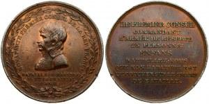 France CONSULATE Medal (1800) Battle of Marengo. Averse legend: BONAPARTE FIRST CONSUL DE LA REP. FRANCE /...