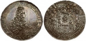 Germany SAXONY 1 Thaler 1696 IK Friedrich August I(1694-1733). Averse: Bust right; sword and helmet in front. Reverse...