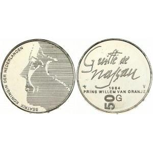 Netherlands 50 Gulden 1984 400th Anniversary - Death of William of Orange. Beatrix(1980 - 2013). Averse: Head left...