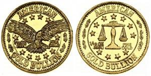 USA Token (2000) American gold bullion 1/10 oz. Averse: Eagle. Reverse: Libra. 999 Fine Gold. Weight approx: 3.10 g...