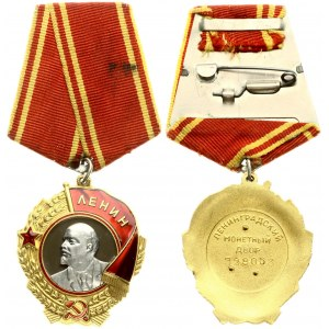 Russia USSR Order of Lenin (1980) Gold with platinum. Enamelled. Numbered on reverse. Gold with platinum; enameled...