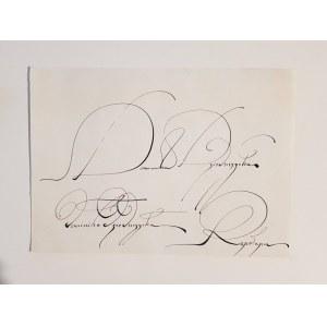 Franciszek Starowieyski, Kaligrafia