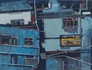 Artur PRZEBINDOWSKI (ur. 1967), Wnętrze miasta - Dyptyk, 2017