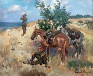 Wojciech Kossak (1856 Paryż - 1942 Kraków), Patrol ułański