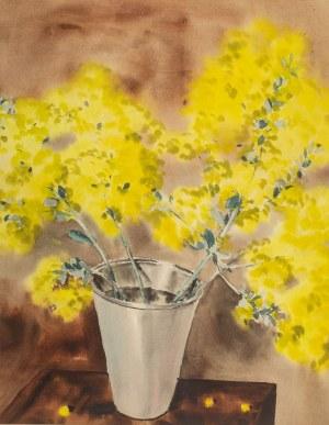 Rafał Malczewski (1892 Kraków - 1965 Montreal), Kwiaty w wazonie