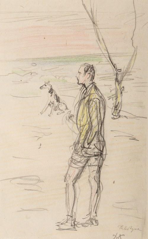 Wlastimil Hofman (1881 Praga - 1970 Szklarska Poręba), Spacer z psem
