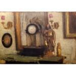 Alfons Karpiński (1875 Rozwadów - 1961 Kraków), Martwa natura z zegarem