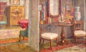 Zofia Albinowska-Minkiewiczowa (1886 Klagenfurt - 1971 Lwów), W salonie