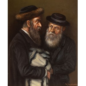 Konstanty Szewczenko (1910 Warszawa-1991 tamże), Dwóch rabinów z torą