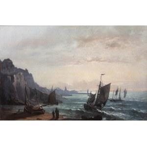 Hippolite Fauvel (1835 Amiens – ?), Łodzie rybackie w Granville
