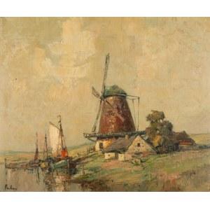 Rudolf Priebe (1889 - 1956 Rudolfstadt), Łodzie z wiatrakiem