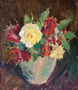 Antoni Suchanek (1901 Rzeszów - 1982 Gdynia), Ogrodowe róże, 1972 r.