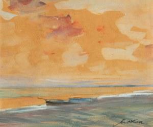 Marian Mokwa (1889 Malary - 1987 Sopot), Zachód słońca nad Bałtykiem