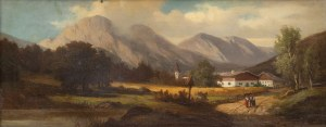 Julius Schonrock (1835 Gdańsk - 1878), W górach Tyrolu