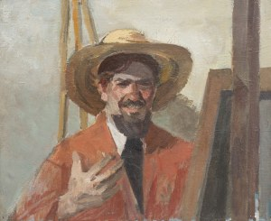Ryszard Kozakiewicz (1924-1982), Autoportret (praca dwustronna)