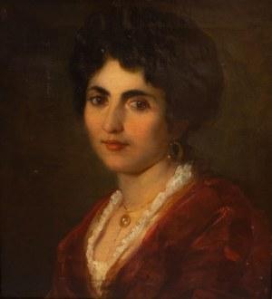 Malarz Nierozpoznany (II poł. XIX w.), Portret kobiety w czerwonej sukni