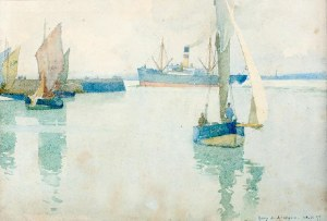 Harry Van der Weyden (1868 Boston – 1952 Londyn), Łodzie, 1897 r.