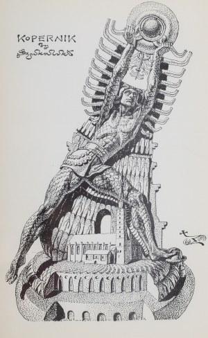 Stanisław Szukalski (1893 Warta – 1987 Burbank), Kopernik (projekt pomnika) i i KRa-k (Krak zabijający smoka), ok. 1973