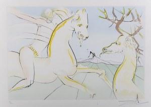 Salvador Dali (1904 Figueres/Hiszpania - 1989 Figueres/Hiszpania), Jeździec i jeleń, z cyklu