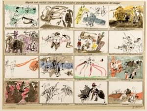 Kurt Moldovan (1918 Wiedeń - 1977 tamże), Alegoryczne i rzeczywiste przedstawienia zwyczajnych i nadzwyczajnych okropności wojennych