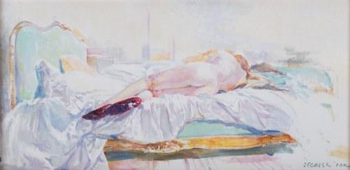Leszek Żegalski (ur. 1959 na Śląsku Cieszyńskim), Zielone łóżko, 2020 r.