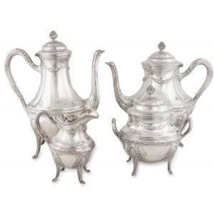 Serwis do kawy i herbaty, Paryż, złotnik Emile Puiforcat (1875-1900)