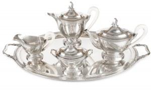 Serwis do kawy i herbaty w stylu empire, XX w.