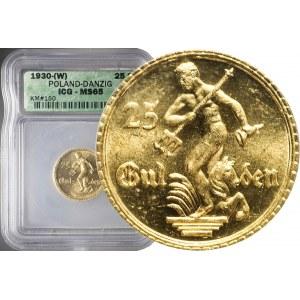 R-, WMG, 25 guldenów 1930, Neptun, mennicze
