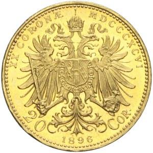 Austria, Franciszek Józef, 20 koron 1896, Wiedeń