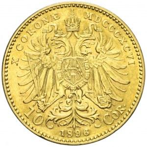 Austria, Franciszek Józef, 10 koron 1896, Wiedeń, rzadszy rocznik