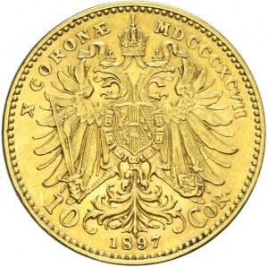Austria, Franciszek Józef, 10 koron 1897, Wiedeń
