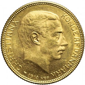 Dania, 20 Koron 1914, Christian X